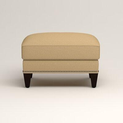 Larson Ottoman Upholstery: Bailey Barley Blended Linen, Nailhead Detail: Trim