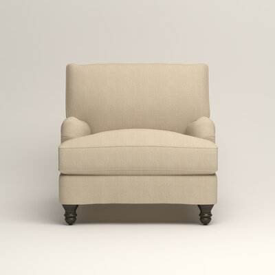 Montgomery Armchair Upholstery: Hilo Flax