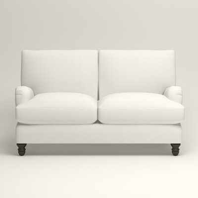 Montgomery Upholstered Loveseat Upholstery: Classic Bleach White