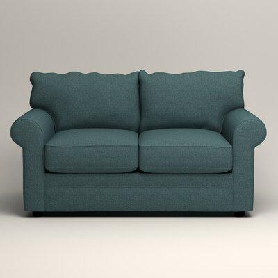 Newton Loveseat Upholstery: Bailey Aegean Blended Linen
