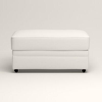 Newton Ottoman Upholstery: Truman Cloud White Twill