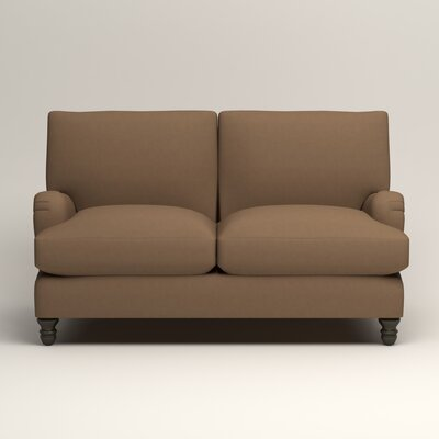Montgomery Upholstered Loveseat Upholstery: Microsuede Cappucino