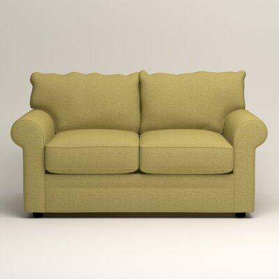 Newton Loveseat Upholstery: Bailey Avocado Blended Linen