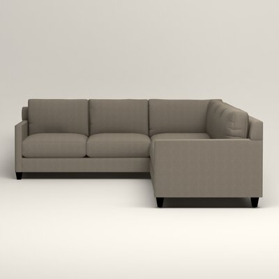 Kerry L-Shaped Sectional Orientation: Right Facing, Upholstery: Bryant Slate Textured Slub