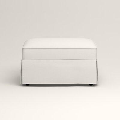 Jameson Ottoman Upholstery: Truman Cloud White Twill