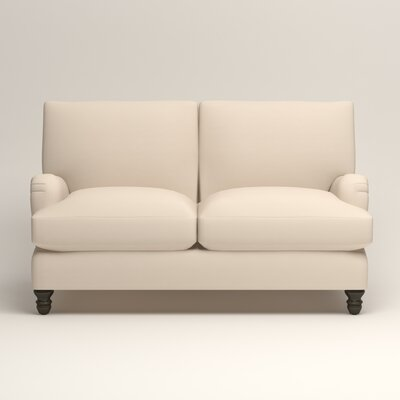 Montgomery Upholstered Loveseat Upholstery: Microsuede Oyster