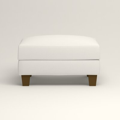 Kerry Ottoman Upholstery: Classic Bleach White