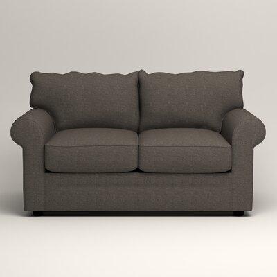 Newton Loveseat Upholstery: Bailey Charcoal Blended Linen