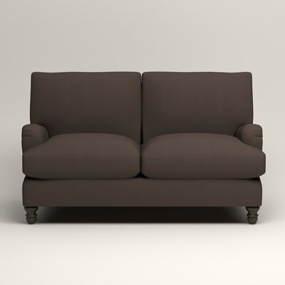 Montgomery Upholstered Loveseat Upholstery: Microsuede Charcoal