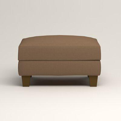 Kerry Ottoman Upholstery: Microsuede Cappucino