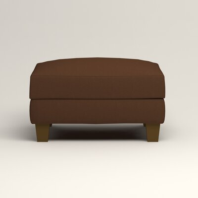 Kerry Ottoman Upholstery: Microsuede Chocolate