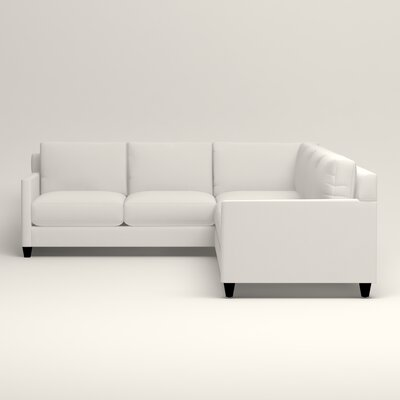 Kerry L-Shaped Sectional Upholstery: Truman Cloud White Twill, Orientation: Right Facing