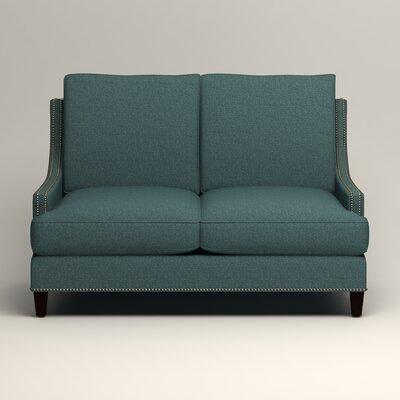 Larson Nailhead Trim Loveseat Upholstery: Bailey Aegean Blended Linen