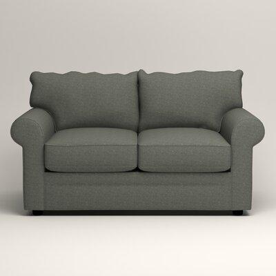 Newton Loveseat Upholstery: Bailey Lagoon Blended Linen