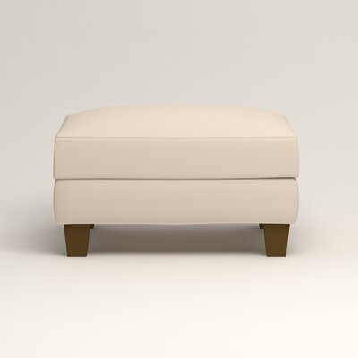 Kerry Ottoman Upholstery: Microsuede Oyster