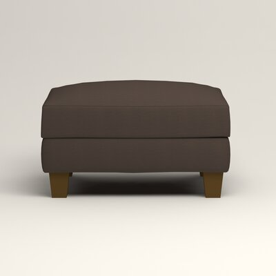 Kerry Ottoman Upholstery: Microsuede Charcoal