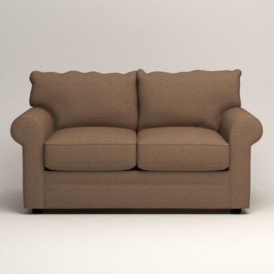 Newton Loveseat Upholstery: Bailey Mushroom Blended Linen
