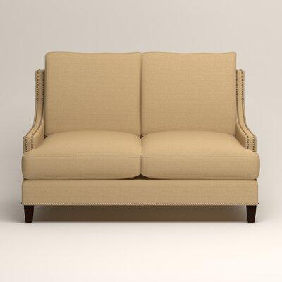 Larson Nailhead Trim Loveseat Upholstery: Bailey Barley Blended Linen