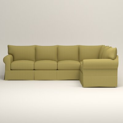 Jameson L-Shaped Sectional Orientation: Left Hand Facing, Upholstery: Bailey Avocado Blended Linen