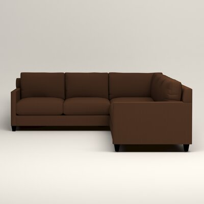 Kerry L-Shaped Sectional Upholstery: Jackson Coffee Microsuede, Orientation: Right Facing