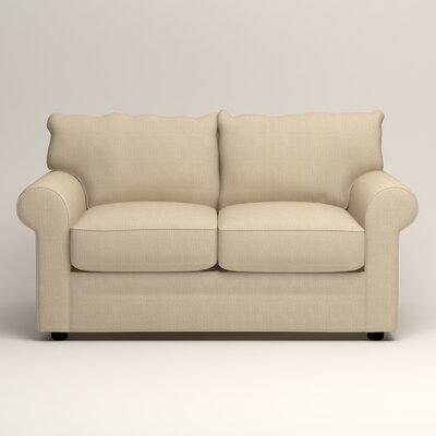 Newton Loveseat Upholstery: Bryant Oatmeal Textured Slub