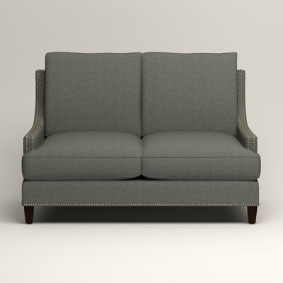 Larson Nailhead Trim Loveseat Upholstery: Lizzy Surf