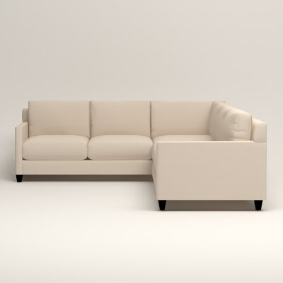 Kerry L-Shaped Sectional Upholstery: Jackson Oyster Microsuede, Orientation: Right Facing