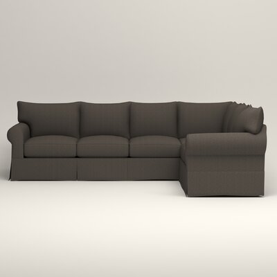 Jameson L-Shaped Sectional Upholstery: Bailey Charcoal Blended Linen, Orientation: Left Hand Facing