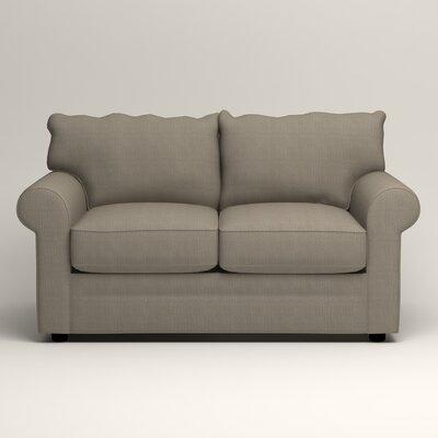 Newton Loveseat Upholstery: Bryant Slate Textured Slub