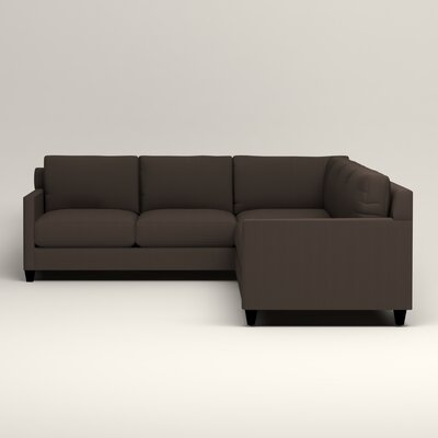Kerry L-Shaped Sectional Upholstery: Jackson Storm Microsuede, Orientation: Right Facing