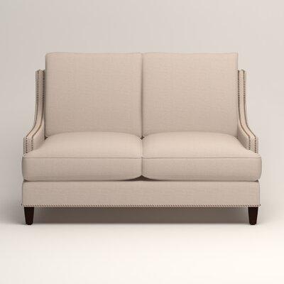 Larson Nailhead Trim Loveseat Upholstery: Lizzy Linen