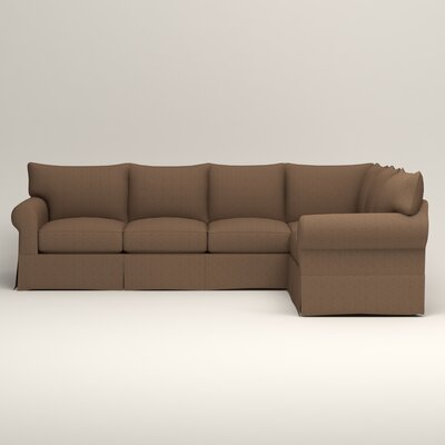 Jameson L-Shaped Sectional Upholstery: Bailey Mushroom Blended Linen, Orientation: Left Hand Facing