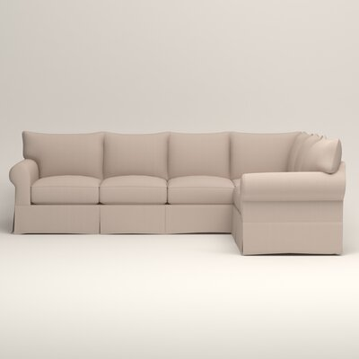 Jameson L-Shaped Sectional Upholstery: Bailey Papyrus Blended Linen, Orientation: Left Hand Facing