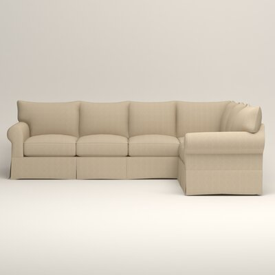 Jameson L-Shaped Sectional Orientation: Left Hand Facing, Upholstery: Bryant Oatmeal Textured Slub