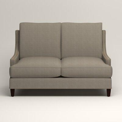 Larson Nailhead Trim Loveseat Upholstery: Bryant Slate Textured Slub