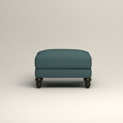 Montgomery Upholstered Ottoman Upholstery: Lizzy Prussian