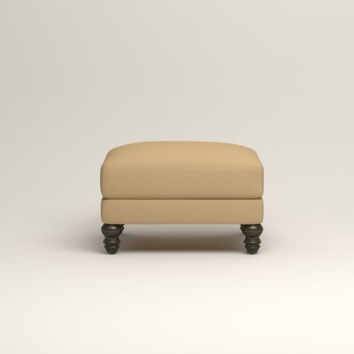 Montgomery Upholstered Ottoman Upholstery: Trillion Saffron