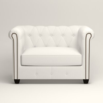 Hawthorn Chesterfield Chair Upholstery: Classic Bleach White