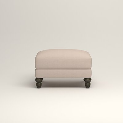 Montgomery Upholstered Ottoman Upholstery: Lizzy Linen