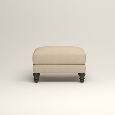 Montgomery Upholstered Ottoman Upholstery: Hilo Flax