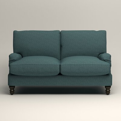 Montgomery Slipcovered Loveseat Upholstery: Lizzy Prussian