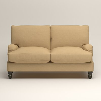 Montgomery Slipcovered Loveseat Upholstery: Trillion Saffron