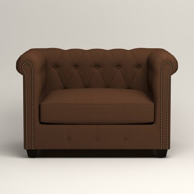 Hawthorn Chesterfield Chair Upholstery: Microsuede Chocolate