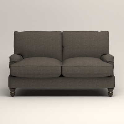 Montgomery Slipcovered Loveseat Upholstery: Lizzy Graphite