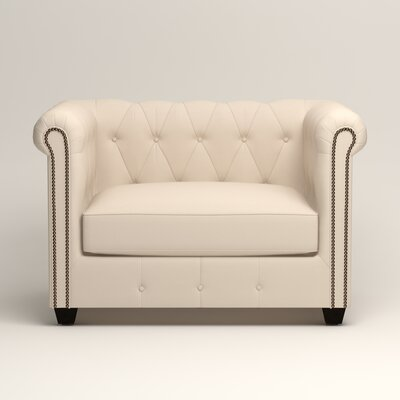 Hawthorn Chesterfield Chair Upholstery: Microsuede Oyster