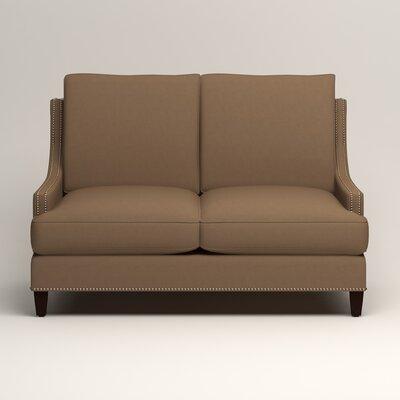 Larson Nailhead Trim Loveseat Upholstery: Jackson Bark Microsuede