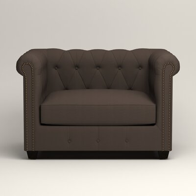 Hawthorn Chesterfield Chair Upholstery: Microsuede Charcoal