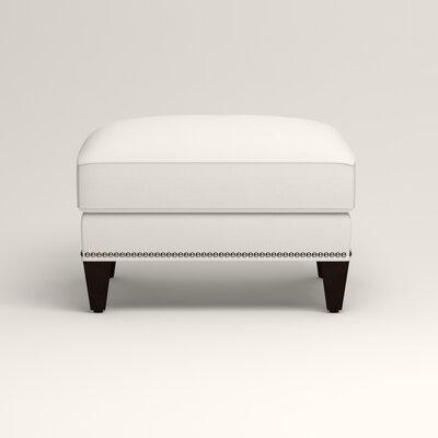 Larson Ottoman Upholstery: Truman Cloud White Twill, Nailhead Detail: Trim