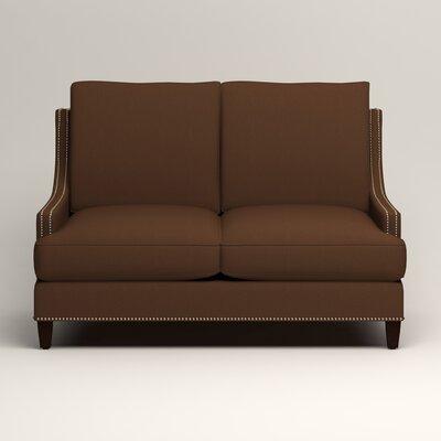 Larson Nailhead Trim Loveseat Upholstery: Jackson Coffee Microsuede