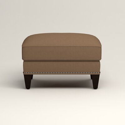 Larson Ottoman Upholstery: Jackson Bark Microsuede, Nailhead Detail: Trim